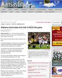 Alabama dominates first half of BCS title game: KansasCity.com